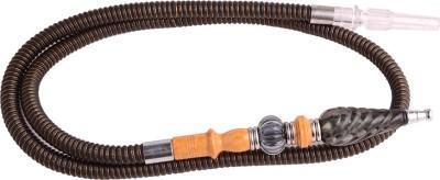 Arabian Nights Fiber, Plastic, Stainless Steel, Wooden Brown Hookah Hose