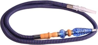 Arabian Nights Fiber, Plastic, Stainless Steel, Wooden Blue Hookah Hose