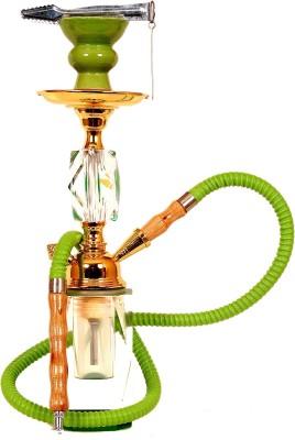 "true NinyTasha True Shisha Hookah Large Equistic Design/14\"" 12 inch Glass Hookah Green  Design 14\"" Design14\"" available at Flipkart for Rs.2749"