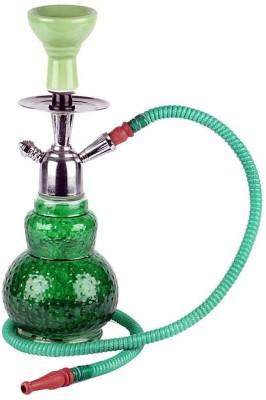 Basement Bazaar Karisma 13 inch Glass Hookah(Green)