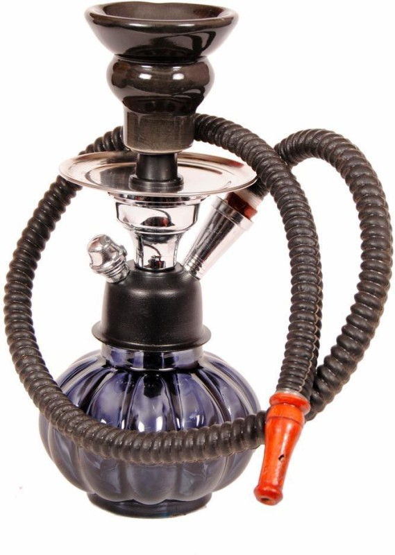 True 10 inch Glass Hookah(Black)