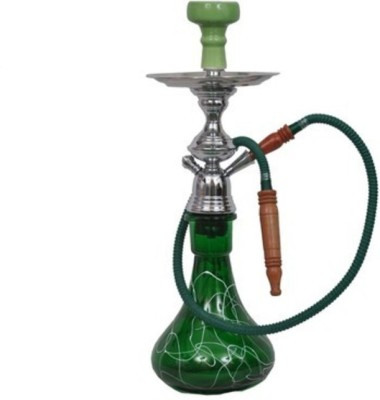 Onlineshoppee Glass Green Hookah Hose(Pack of 1 Mouth Tip Included)