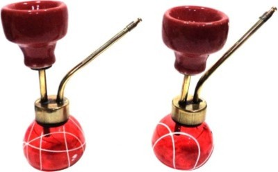 Glori-fyi Antique Handcrafted Royal Pair 6 inch Glass Hookah