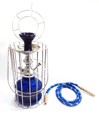 Homestyle India Royal Handcrafted 33 cm Glass, Steel Hookah(Blue)