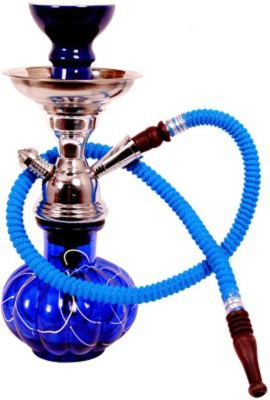 Homestyle India Handcrafted 12 inch Glass Hookah(Multicolor)