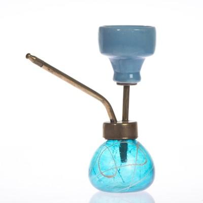 Smile2u Retailers 6 inch Glass Hookah(Blue)
