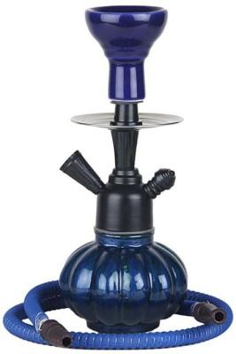 Basement Bazaar Sarfaraaz 10 inch Glass Hookah(Blue)