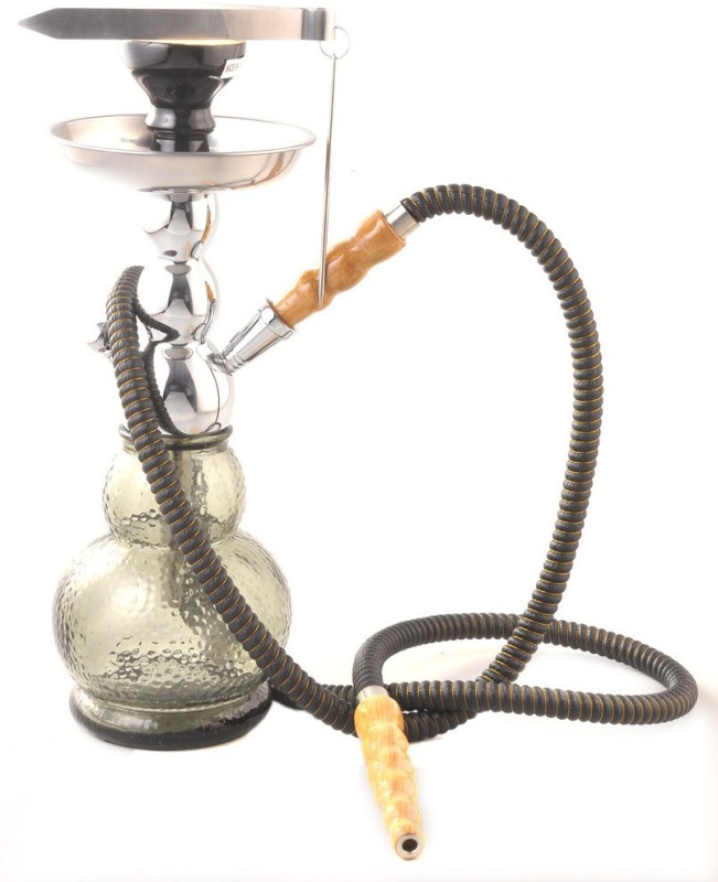 True Black Maya 14 inch Glass Hookah(Black)