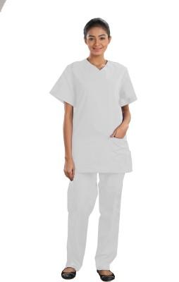 Atlanta ScrubSuit1WhiteL Gown Hospital Scrub