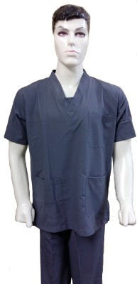 Surgical e Sstudio S0002 Gown Hospital Scrub(Light Grey S)