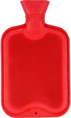 Orizon both side ribbed Non-electric 2 L Hot Water Bag(Red)