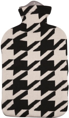 Pluchi Houndstooth Hot Water Bottle Cover Non-Electrical 2 L Hot Water Bag