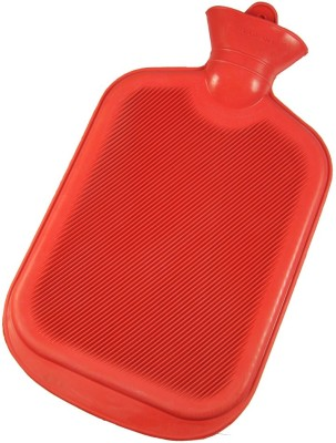 YBM Ribbed with Metal Cap Non-electric 1.5 L Hot Water Bag(Red)