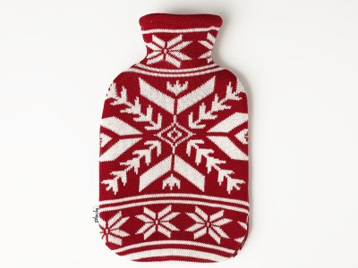 Pluchi Big Snowflakes Hot Water Bottle Cover Non-Electrical 2 L Hot Water Bag