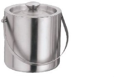 aagam Stainless Steel Ice Bucket(Grey)