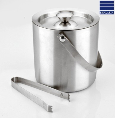 Bhalaria Deluxe Ice Bucket with Tong Stainless Steel Ice Bucket