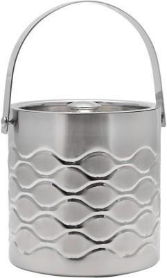 Mango Orchard Double Walled Diamond Stainless Steel Ice Bucket(Steel 3 L)