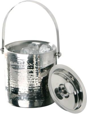 Tirupati Double Wall Hand Hammered Stainless Steel Ice Bucket(Steel)