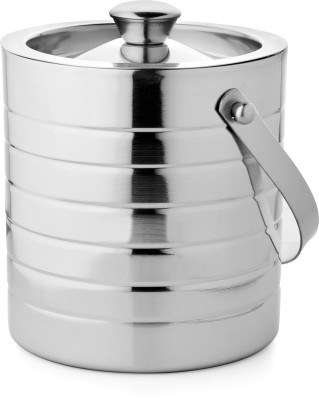 Mosaic Ice Bucket Glory Small Stainless Steel Ice Bucket(Silver 1.1 L)