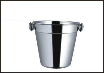 Ideal home Double Tone Champange Bucket Stainless Steel Ice Bucket(Steel)