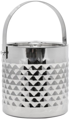 Mango Orchard Double Walled Ornate Stainless Steel Ice Bucket
