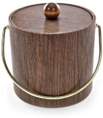 Mr. Ice Bucket Walnut Woodgrain Ice Bucket 3-Quart Ice Bucket