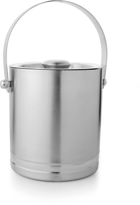 Mosaic Ice Bucket with Ring Small Stainless Steel Ice Bucket