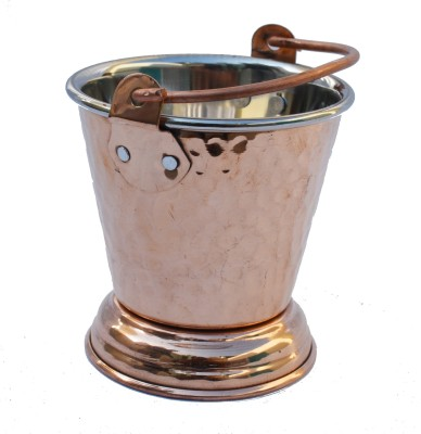 Veda Home & Lifestyle Copper Steel Serving Bucket Small Copper Ice Bucket(Brown 0.300 L)