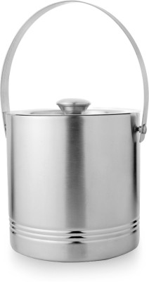 Mosaic Ice Bucket Multiple Ring Small Stainless Steel Ice Bucket(Silver 1.5 L)