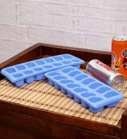 Trust & Guess Blue Plastic Ice Cube Tray(Pack of 2)