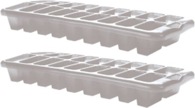 Goldcave White Plastic Ice Cube Tray(Pack of 2)
