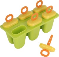 Navisha Solid Grace Green, Yellow Plastic Ice Cube Tray(Pack of 6)