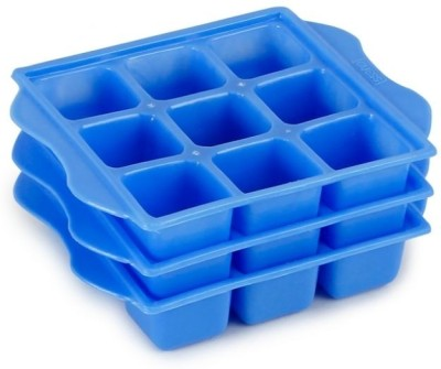 Trust & Guess Blue Plastic Ice Cube Tray(Pack of 3)
