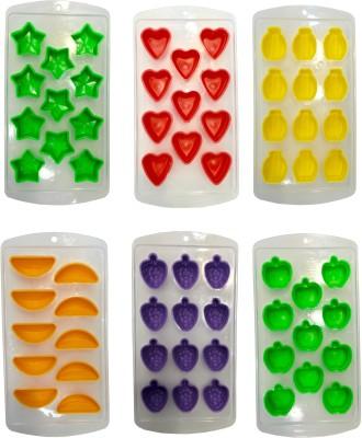 Platex Multicolor Silicone Ice Cube Tray Set(Pack of 6)