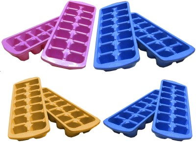 Goldcave Multicolor Plastic Ice Cube Tray Set