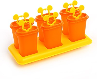 Tupperware Orange, Yellow Plastic Ice Cube Tray(Pack of 1)