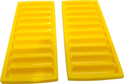 Cello Yellow, Blue, Green Silicone Ice Cube Tray Set