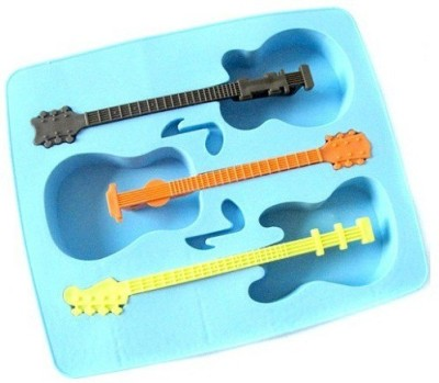 Mog Guitar Blue Silicone Ice Cube Tray
