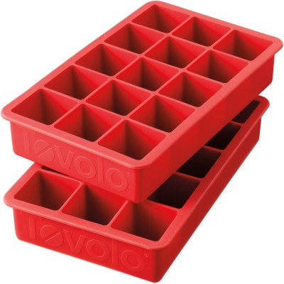Tovolo Red Silicone Ice Cube Tray Set
