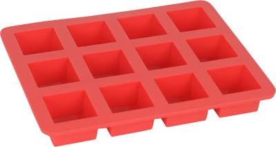 Seven Seas Square Red Silicone Ice Cube Tray