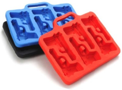 Trend Giftware Gun Cubes Red, Blue Silicone Ice Cube Tray