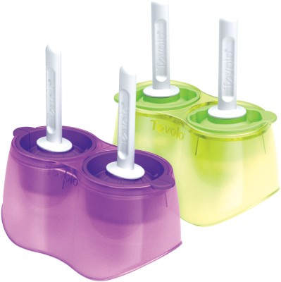 Tovolo Pink, Green Plastic Ice Cube Tray Set