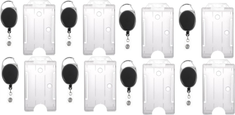 BOX18 Plastic ID Badge Holder(Pack of 10)