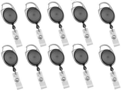 PremPari Plastic ID Badge Reel(Pack of 10)