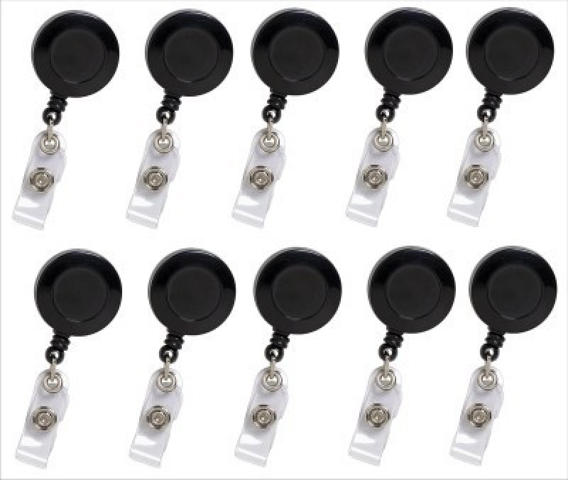 Art Craft Plastic ID Badge Reel(Pack of 10)