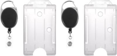 BOX 18 Plastic ID Badge Holder(Pack of 4)