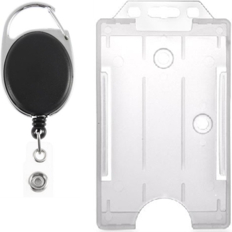BOX 18 Plastic ID Badge Holder(Pack of 2)