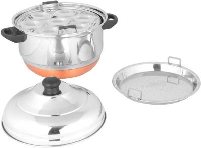 PREMIUM Indux 28 Idly Pot cum Streamer - Copper Bottom Standard Idli Maker(4 Plates , 28 Idlis )