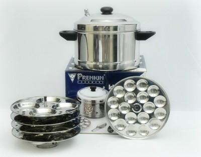 Premium 4-Plates Idly Cooker Induction & Standard Idli Maker