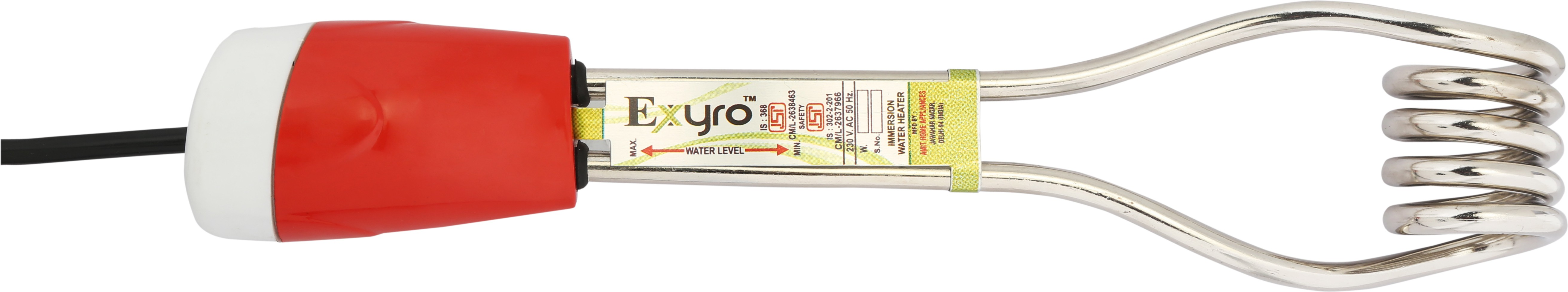 Exyro Waterproof 1500 W Immersion Heater Rod(Water)